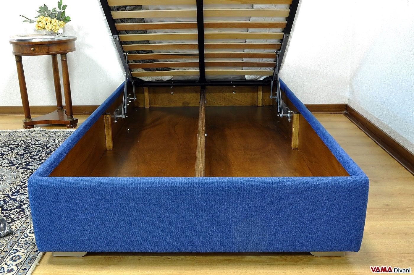 Letto con contenitore alla francese senza spalliera anche su misura - Come costruire un letto contenitore ...