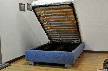 letto contenitore sollevato da terra una piazza e mezzo