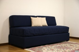 Letto divano contenitore senza testate e braccioli
