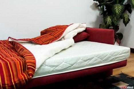 Materasso alto 15 cm in gomma del divano letto a libro