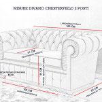 Misure divano Chesterfield 2 posti