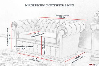 Divano Chesterfield 2 Posti | Prezzo, Rivestimenti e Misure