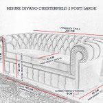 Misure divano Chesterfield large