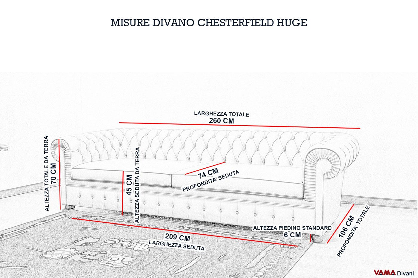 Divano chesterone divano chesterfield bianco pi profondo for Misure divani angolari 3 posti