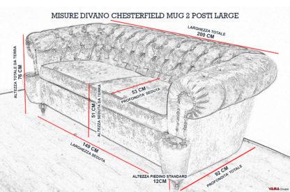Dimensioni Divano Chesterfield Milano 2 Posti Large