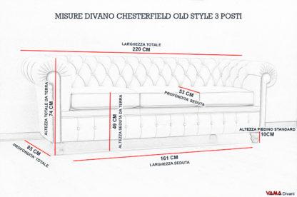 Dimensioni Divano Chester Vintage