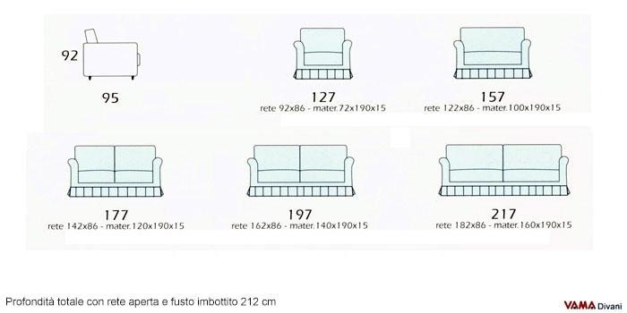 Divano Letto Misure. Latest Download By Tablet Desktop Original Size ...