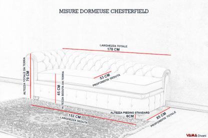 Misure e Dimensioni della Dormeuse Chester