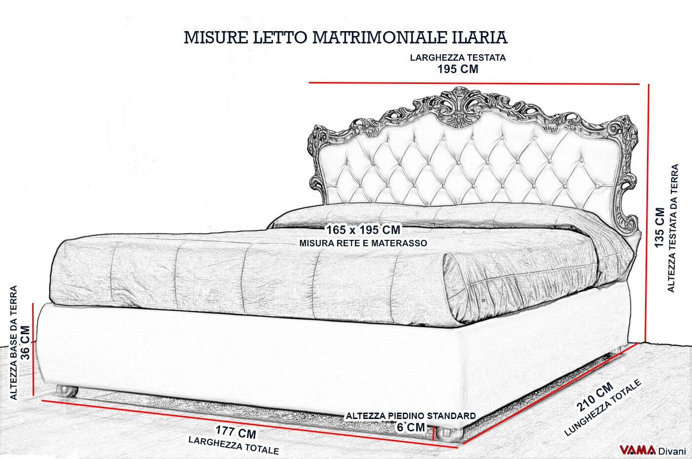 Stunning Larghezza Letto Matrimoniale Gallery - bakeroffroad.us ...