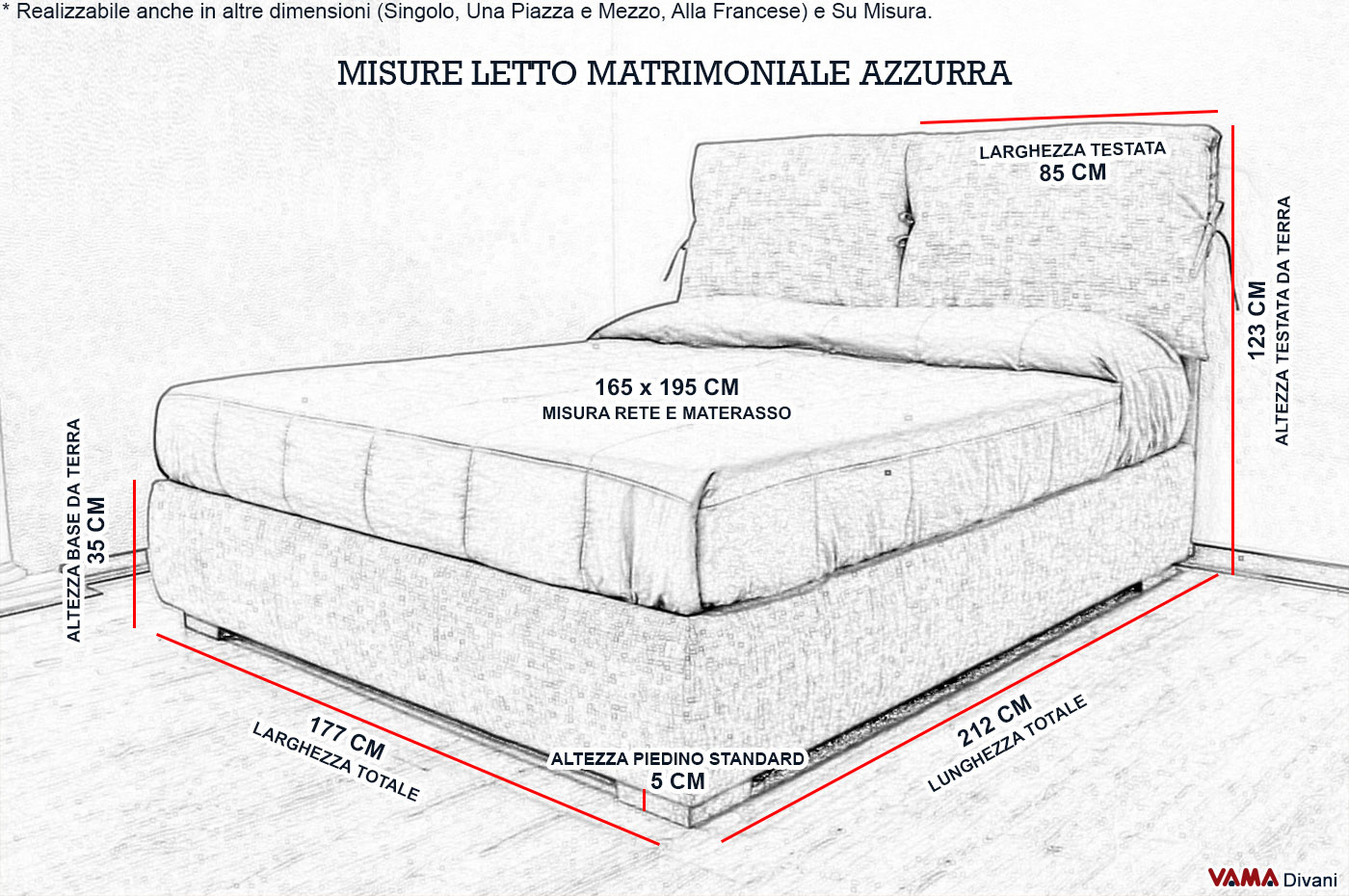 Letto Matrimoniale Dimensioni Standard ~ duylinh for
