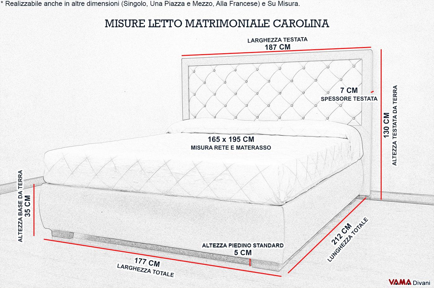 Letto imbottito moderno in vera pelle con testata in capitonn for Letto a ponte misure