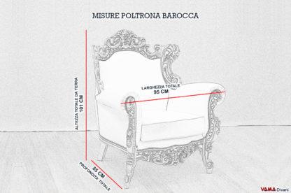 Misure Poltrona Barocco con cornice
