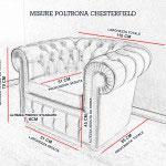 Misure poltrona Chesterfield