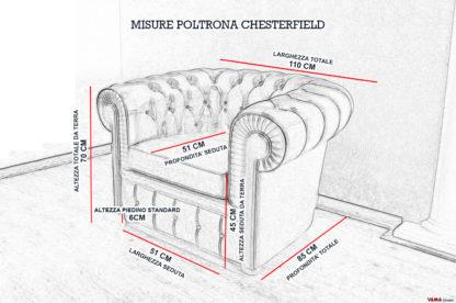 Dimensioni e Misure Poltrona Chesterfield