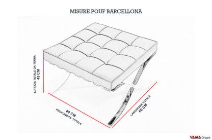 Misure e altezza Pouf Barcellona