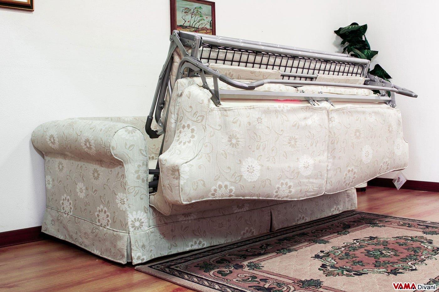 Divano letto matrimoniale classico in tessuto - Regalo divano letto ...