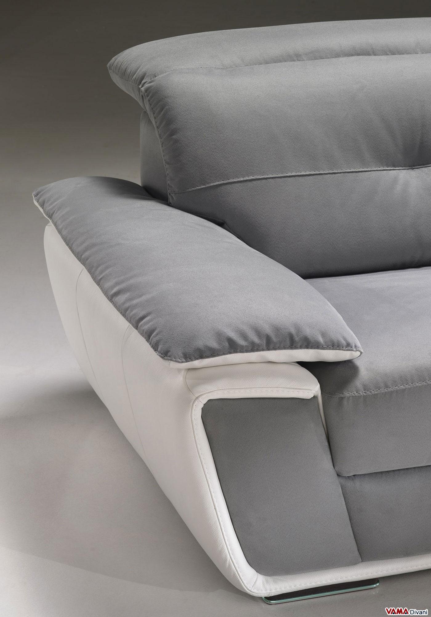 Divano con poggiatesta relax in pelle e microfibra - Prodotti per la pulizia del divano in pelle ...