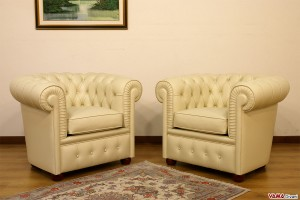 Piccole poltrone Chesterfield