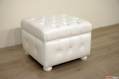 Pouf chesterfield bianco