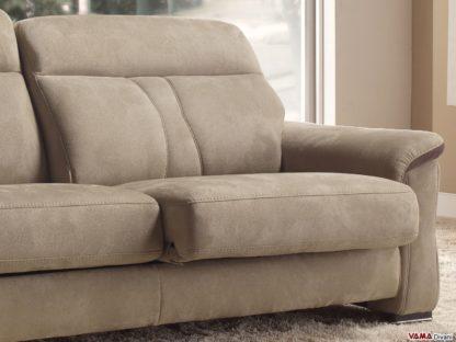 Seduta scorrevole divani in pelle e tessuto
