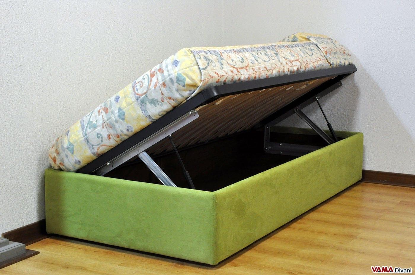 Letto con contenitore singolo senza testata anche su misura - Ikea letto singolo contenitore ...