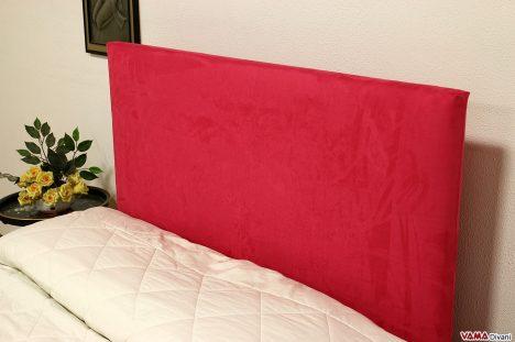 Testata letto semplice in microfibra rosa vivo