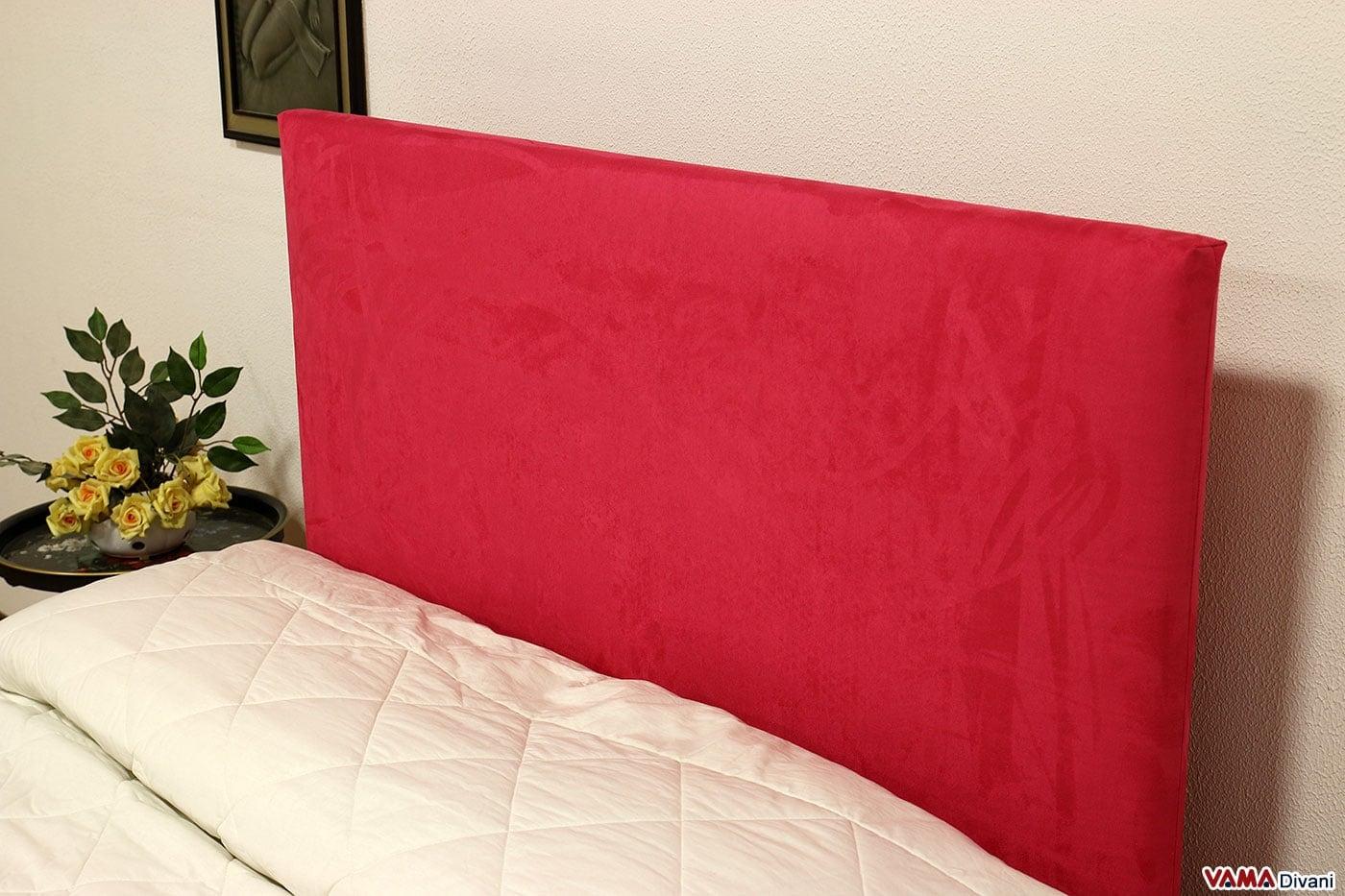 Letto imbottito in tessuto con contenitore testata semplice - Testata per letto ...