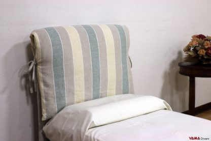 Testiera letto singolo con morbido cuscino