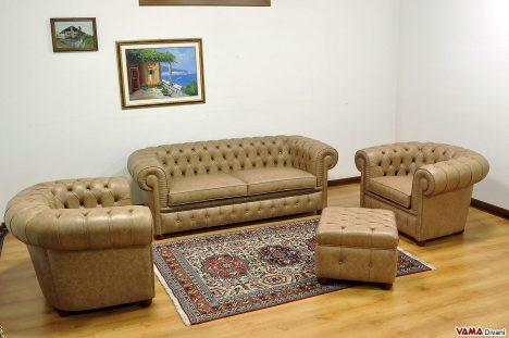 divani e poltrone chesterfield in pelle effetto invecchiato vintage