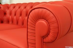 Divano Chesterfield Rosso