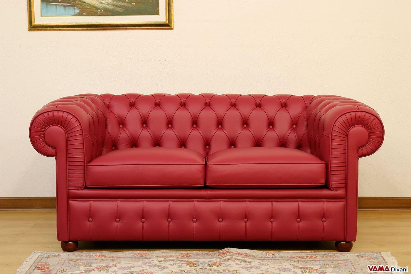Divano chesterfield 2 posti prezzo rivestimenti e misure - Dimensione divano 2 posti ...