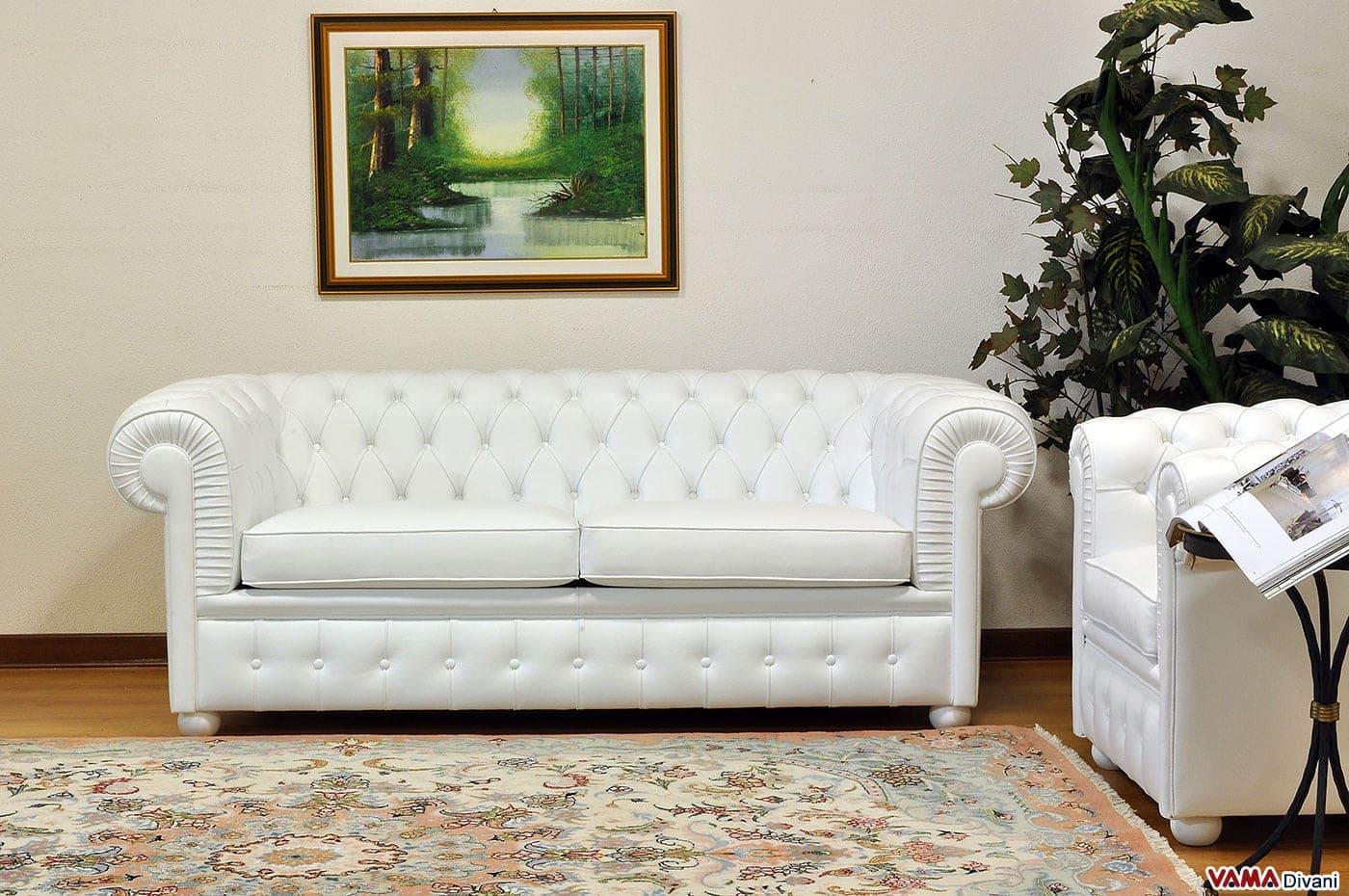 divano chesterfield bianco idee per il design della casa