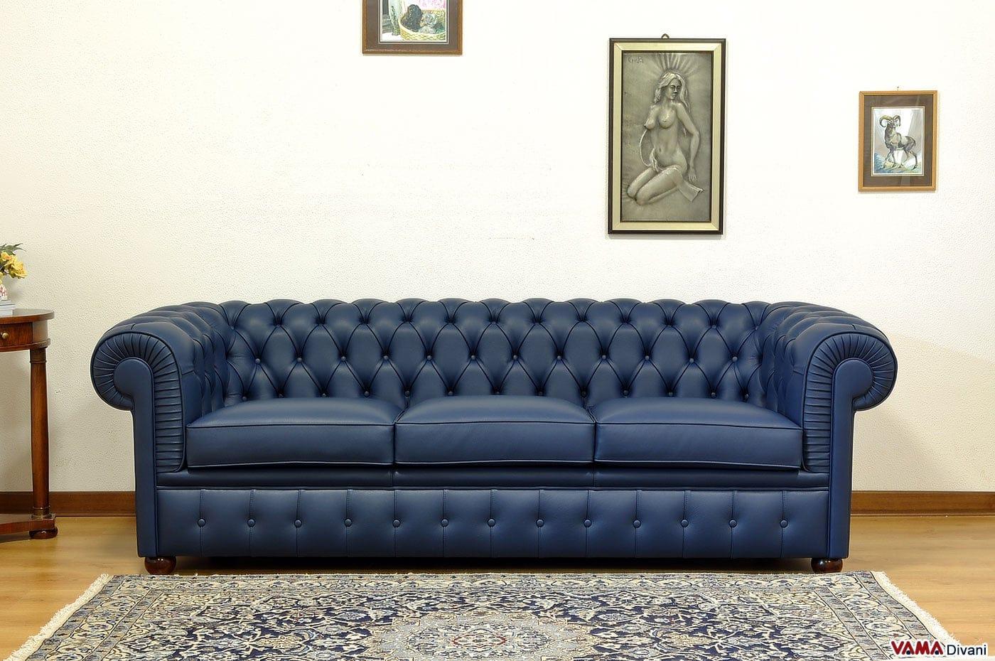 Divano chesterfield 3 posti prezzo e dimensioni for Offerte divani tre posti