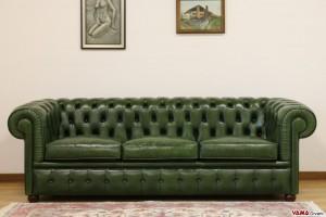 Divano 3 posti chester verde inglese