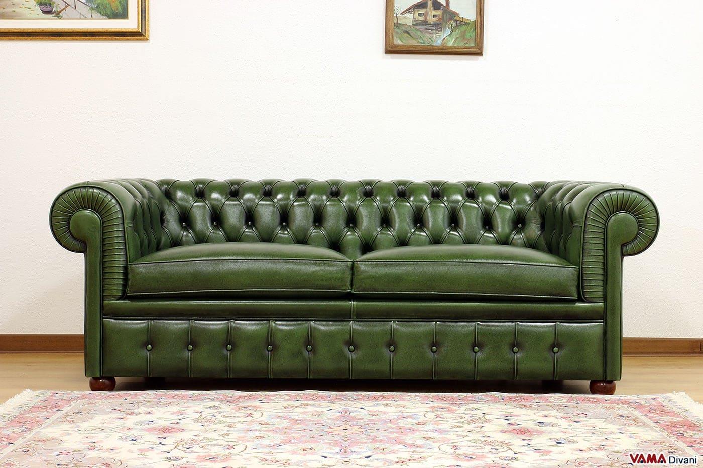 divano letto a 2 posti in cotone verde 120x90x85 cm. divano ...