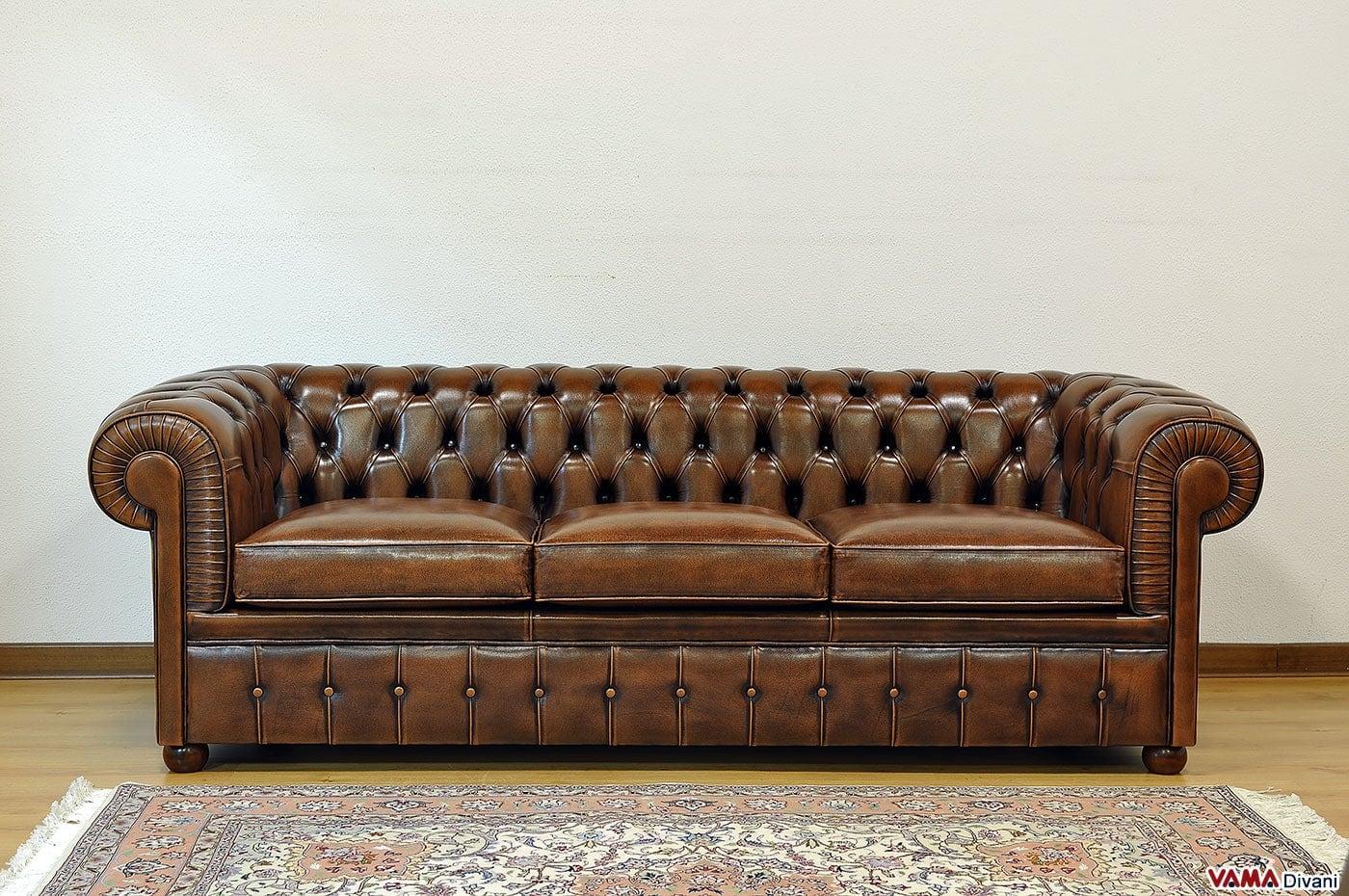 Divano chesterfield 3 posti vama divani - Divano letto retro ...