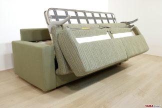 divani con letto matrimoniale in tessuto verde
