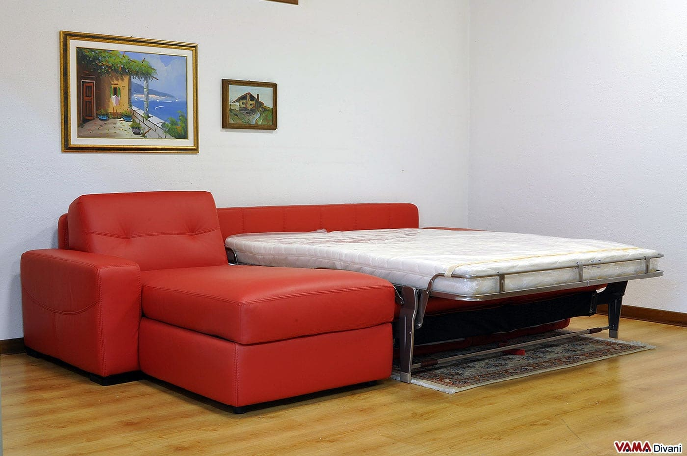 Divano angolare con letto matrimoniale e penisola contenitore - Divano letto angolare divani e divani ...