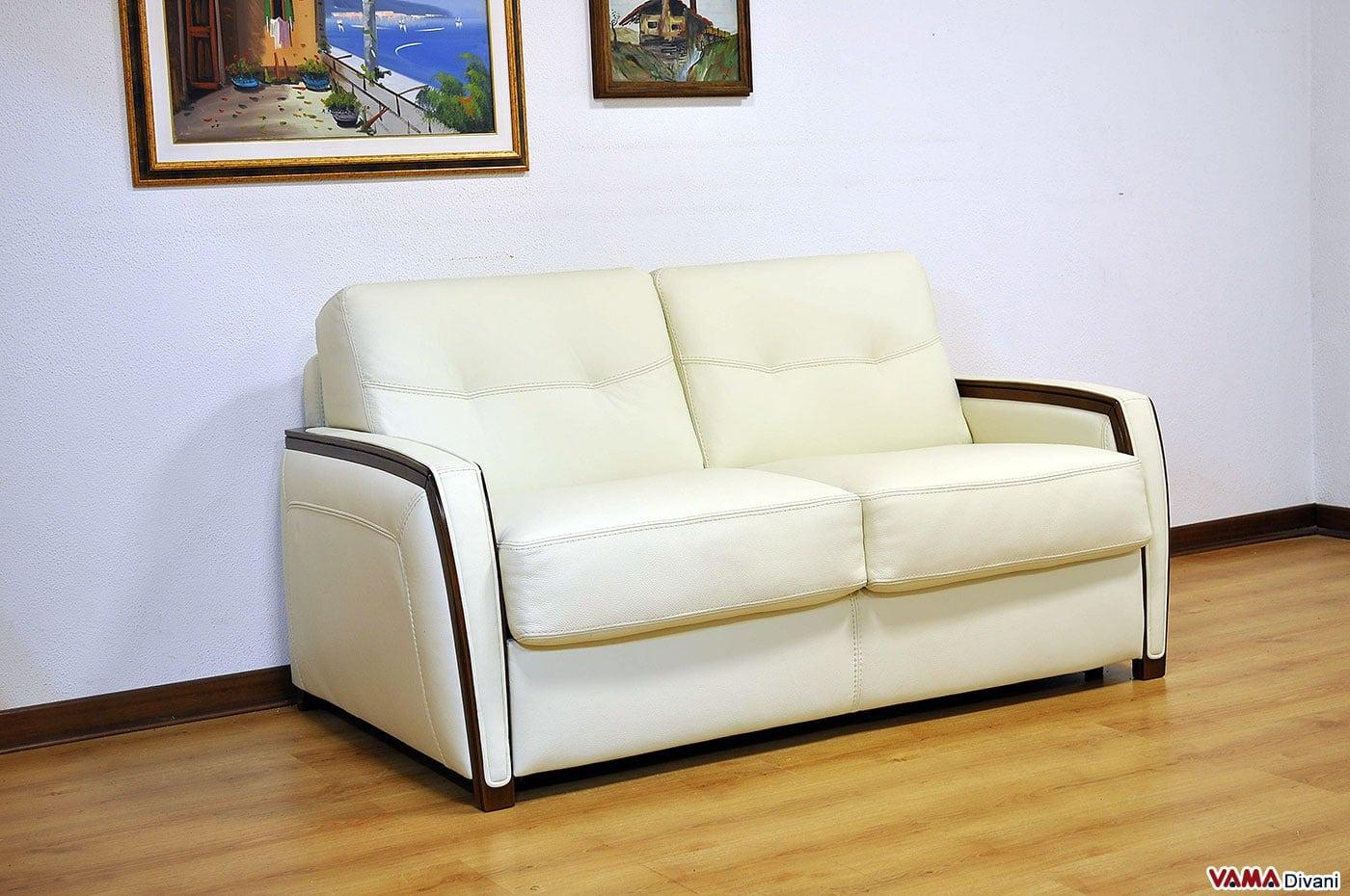 Divano letto matrimoniale moderno in pelle - Letto a divano ...