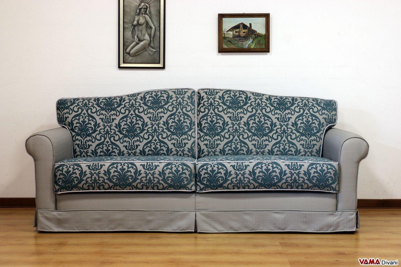 Divano letto classico galles vama divani - Divano tessuto damascato ...