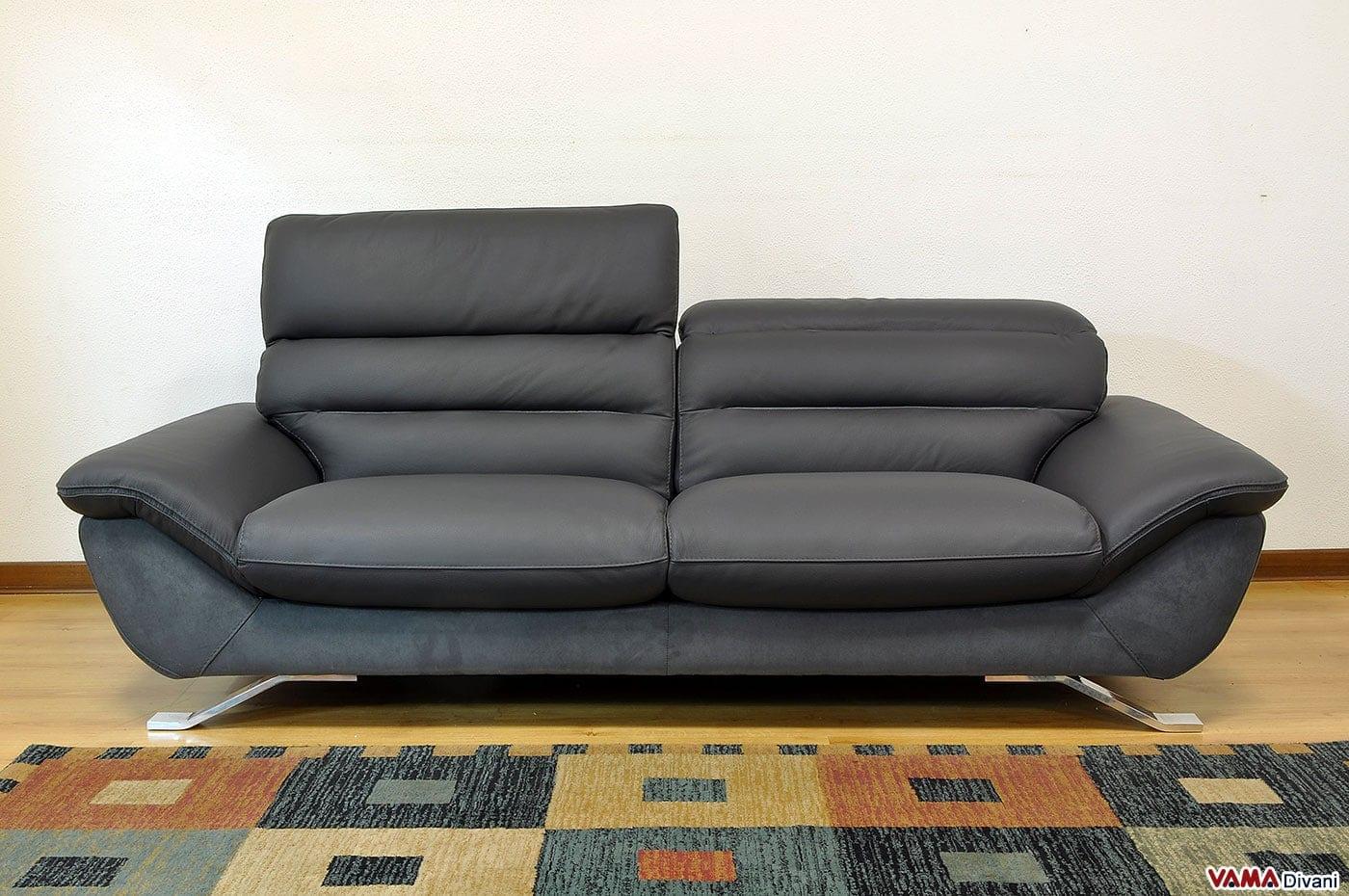 Divano moderno con piedini in acciaio cruise vama divani