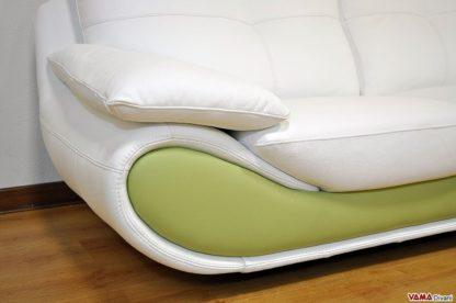 Divano in pelle moderno verde e bianco