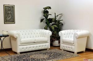divano poltrona chesterfield bianchi con swarowski