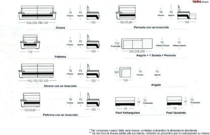 Dimensioni Divano Angolare Recliner con Poggiatesta