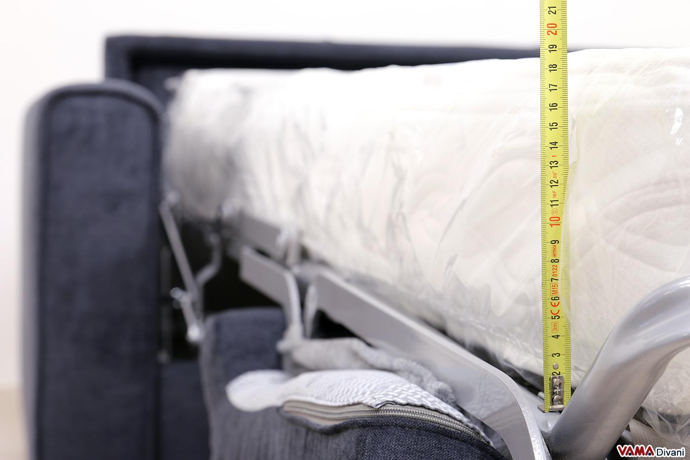 Materasso divano letto alto 18 cm