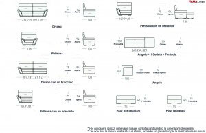 Dimensioni divano Oxigene