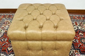 Pouf chesterfield vintage