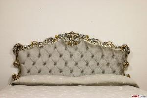 Testata letto barocco in foglia oro argento