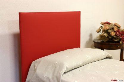 Testiera letto semplice rossa
