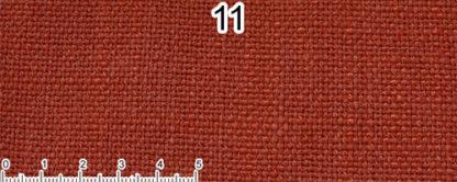 Tessuto Cotone e Lino Colore arancio scuro